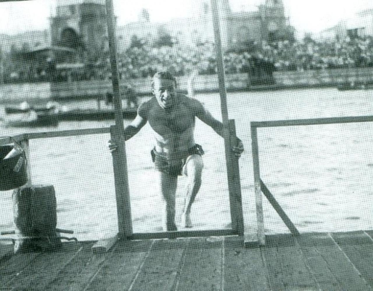 Gianni Gambi var en av världens främsta långdistanssimmare under 1930-1940-talet.