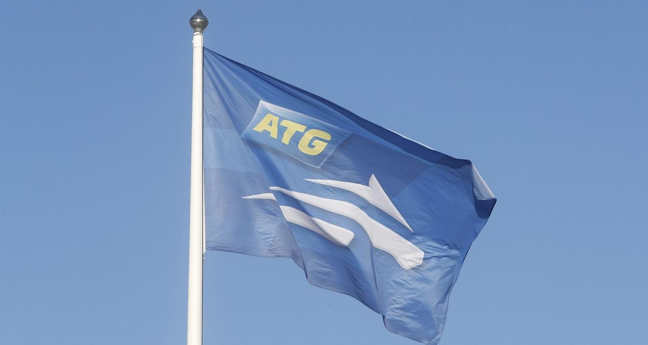 ATG flaggar upp för att man sparar ihop till en storjackpot på påskdagen. Foto: Micke Gustafsson/ALN