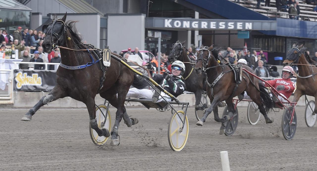 Hans R Strömberg styr kosan mot Sundsvall på lördag med On Track Piraten. Foto Leif Norberg/ALN