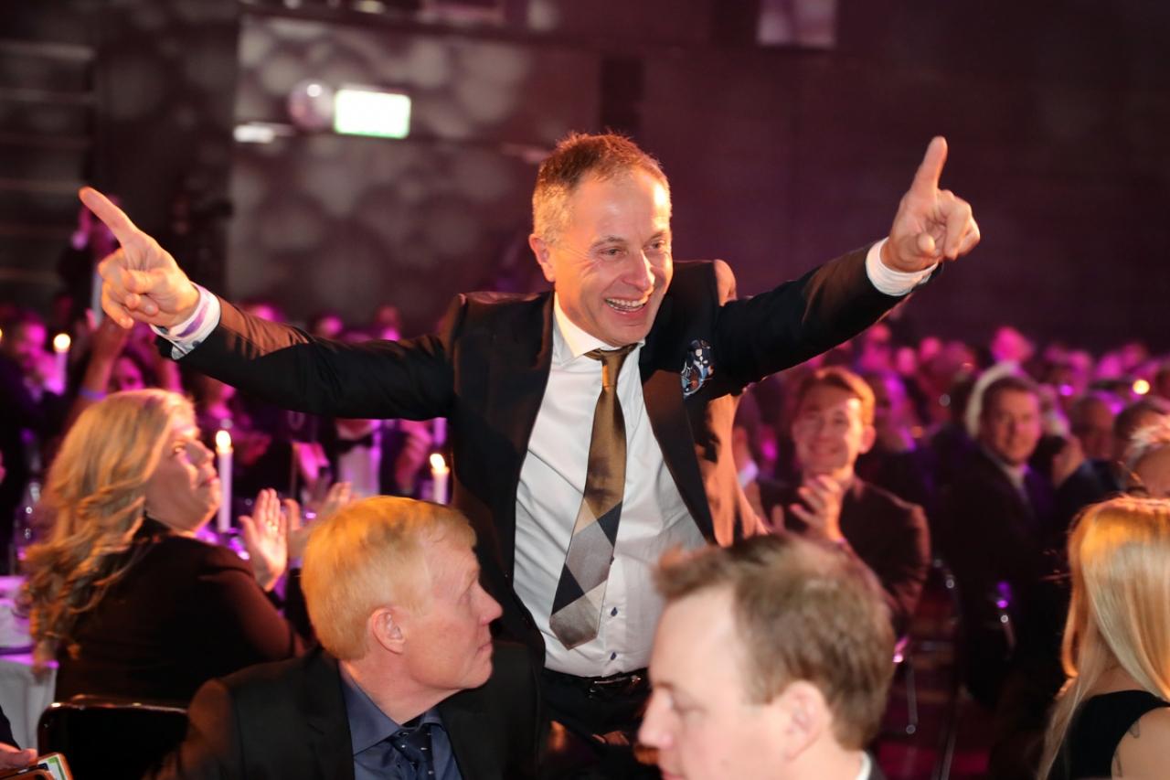Blir Peter Untersteiner såhär glad på söndag när han kör Kriteriekval i Danmark med DIamondwind? Foto Mia Törnberg