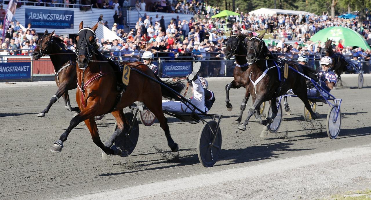 Så här såg det ut när Dante Boko vann Årjängs Stora Sprinterlopp ifjol på 1.09,6a/1.640 meter. Foto Urban Kihlman/ALN