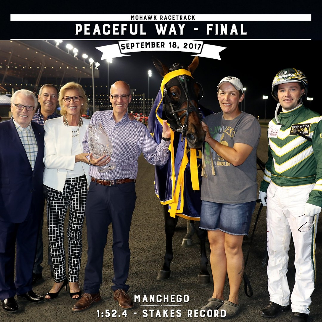 Manchego efter nattens triumf i Peaceful Way Stakes. Foto New Image Media