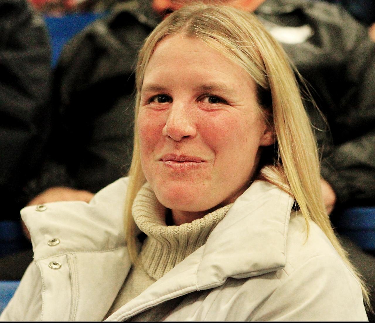 Anette Lorentzon vann dubbelt igår och bland annat en final i Excelsior Series med Labadee Ås. Foto Stall Kennys Andelshästar  Harrisburg auktion  Anette Lorentzon på auktion