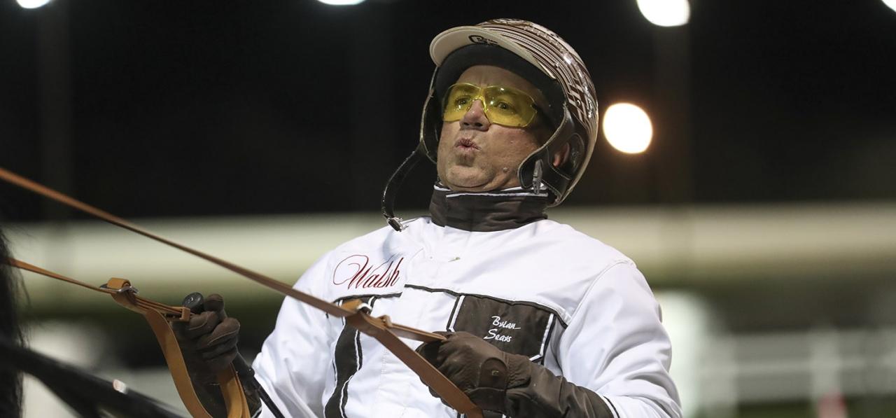 Brian Sears är redo för att köra lopp på Meadowlands igen! Foto Jeannie Karlsson/Sulkysport