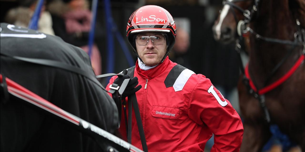 Johan Untersteiner har fått ta emot två inbjudningar till Seinäjoki-Race den 22 april. Foto: Jeannie Karlsson/Sulkysport