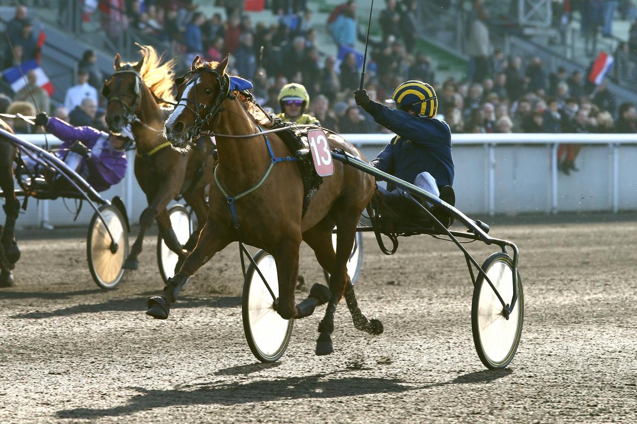 Stoet Folelli, körd av Alexandre Abrivard, vann Criterium des Jeunes. Foto: Valentin Desbriel/ SCOOPDYGA