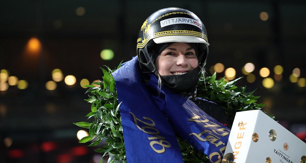 Sandra Eriksson. Foto Jeannie Karlsson/Sulkysport