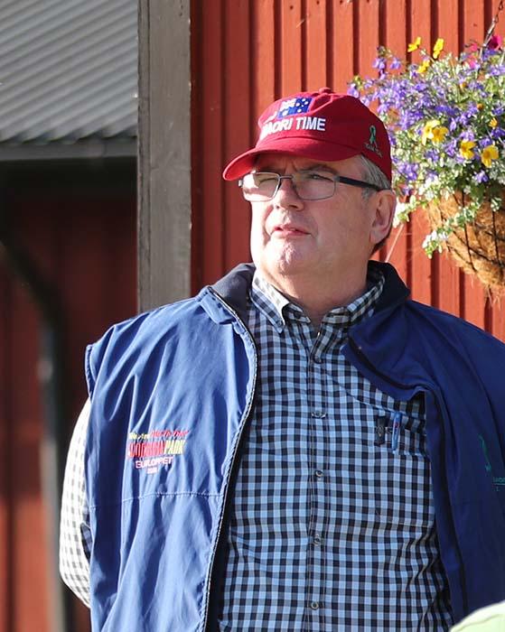 Fred Crews är ägare till Maori Times, Foto Jeannie Karlsson/Sulkysport