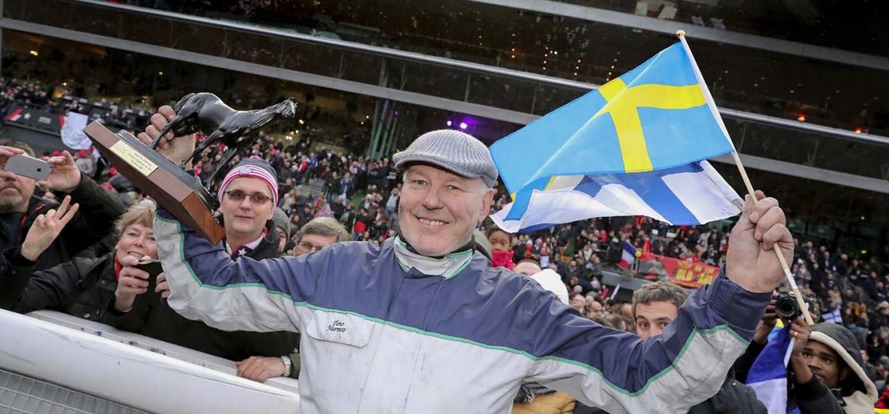 Timo Nurmos hade en toppdag nör han igår kvalade in fyra hästar till svenska Kriteriet och på tisdag ska han även försöka få in Marrakesh i det finska. Foto: Mia Törnberg/Sulkysport