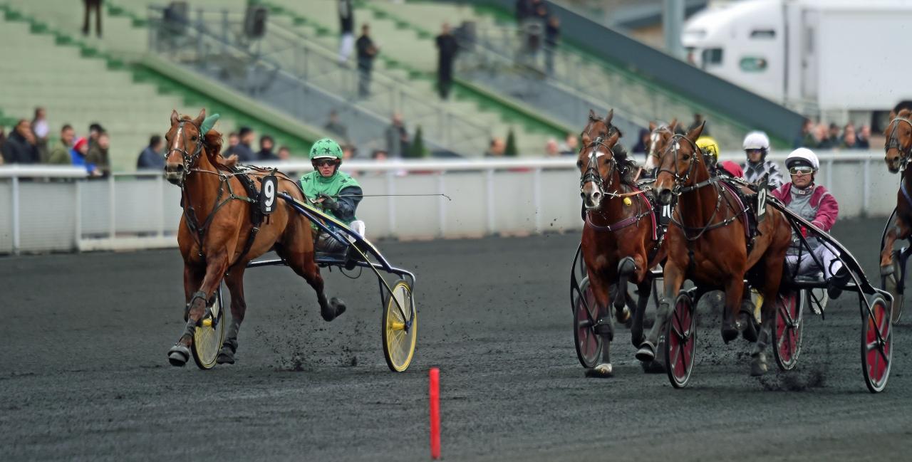 Gotland (nummer 12) och Eric Raffin vann Prix Maurice de Gheest. Foto: Gerard Forni.