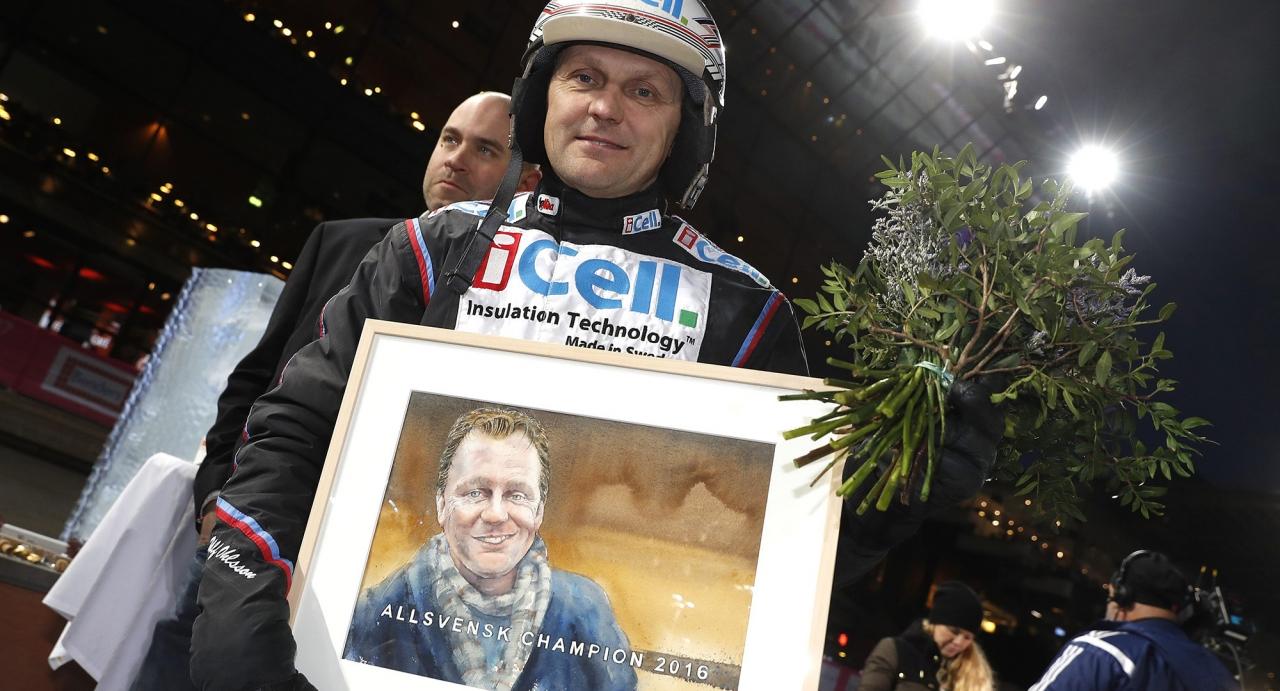Ulf Ohlsson gjorde inte många tavlor i Bollnäs. Tvärtom slog han till med fem segrar på tio försök. Foto Micke Gustafsson/ALN