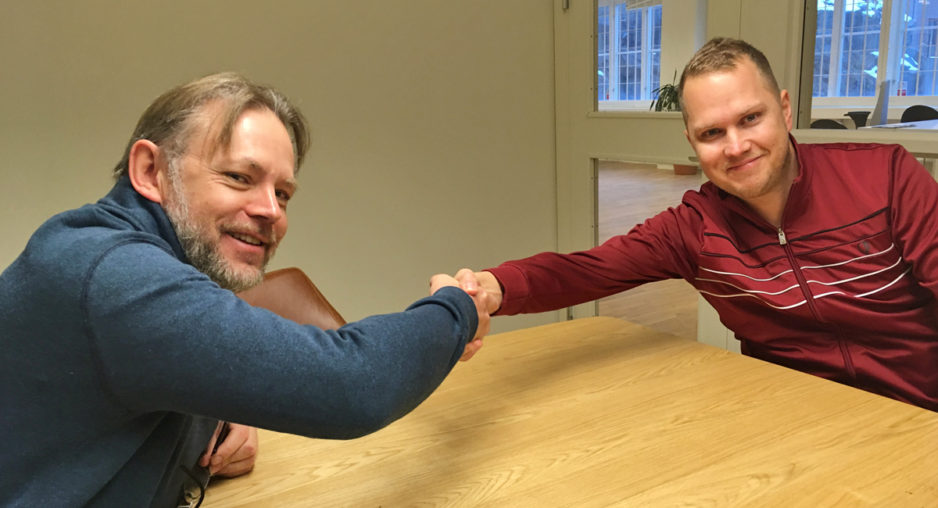 Lars G Dahlgren hälsar Per Gustafsson välkommen.