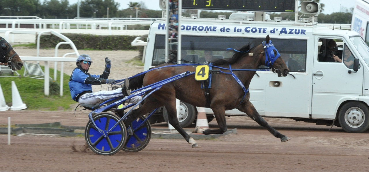 Timoko vid segern i Grand Critérium de Vitesse. Blir det en ny framgång i Lotteria den 1 maj? Foto Simon Hagen/Stalltz.se