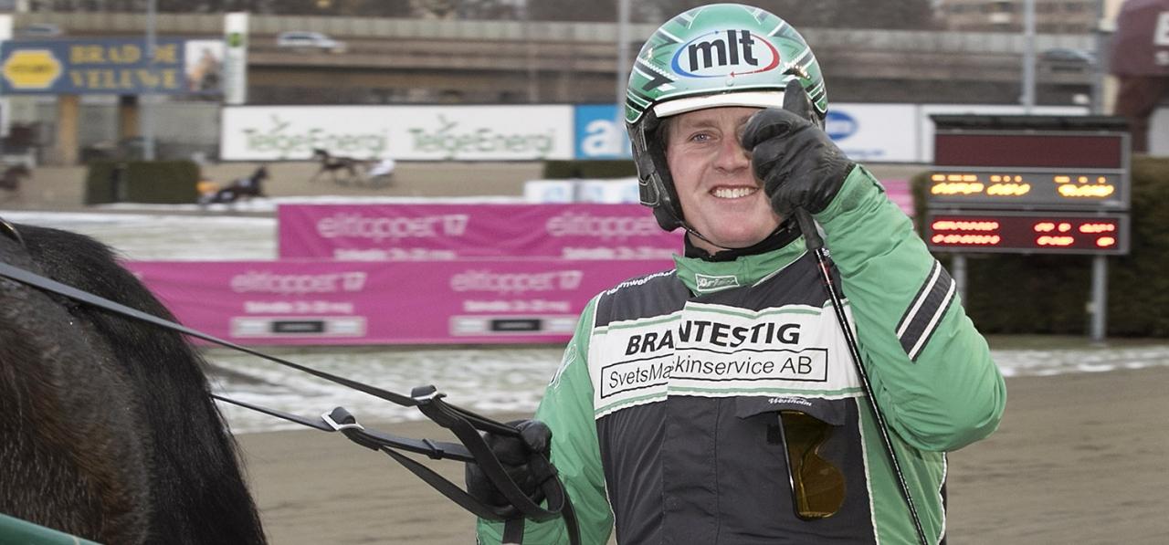 Jörgen Westholm vann lopp idag på Enghien. Foto Mia Törnberg
