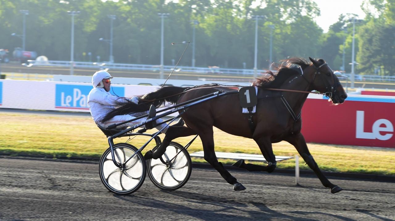 Bison Spiro hade inga problem att vinna sin debut på Vincennes. Foto: Gerard Forni