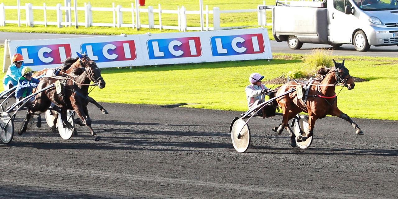 Erminig d'Oliverie övertygade stort vid seger på Vincennes idag i semi-classique-löpningen Prix Reine du Corta. Foto Scoopdyga.com