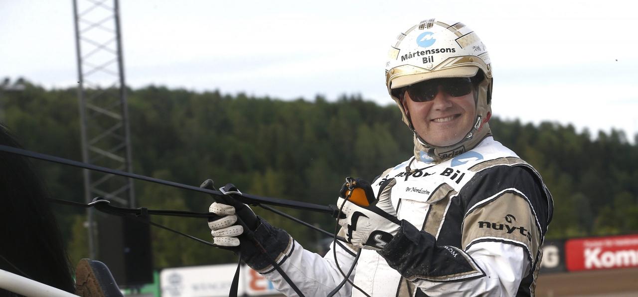 Per Nordström skrällvann treåringsfinalen i Kalmar med Önas Nougat. Foto Hanold/ALN