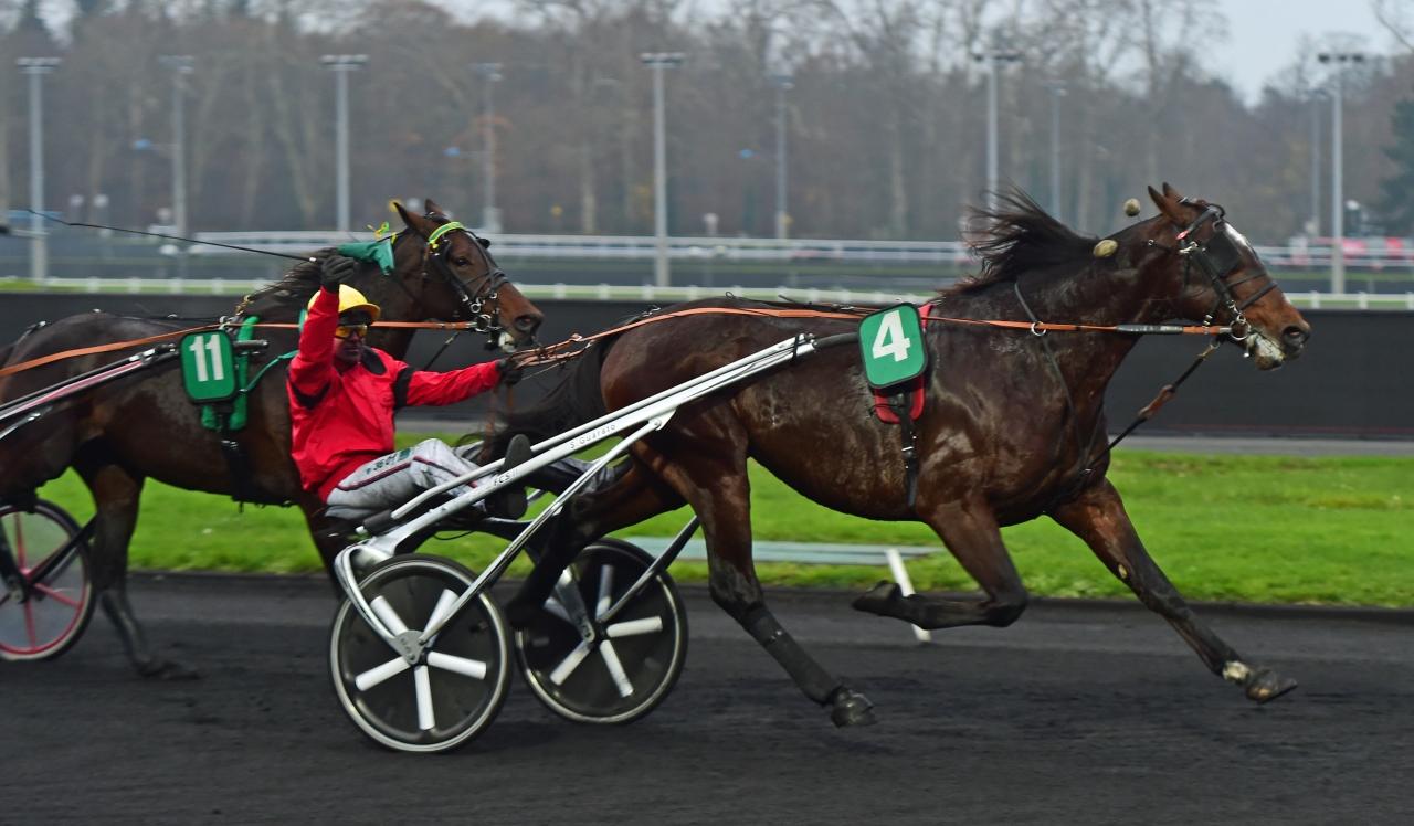 Bold Eagle-brodern Cash and Go vann lördagens profillopp Prix Doynel de Saint-Quentin (€120.000) på Vincennes. Foto: Gerard Forni