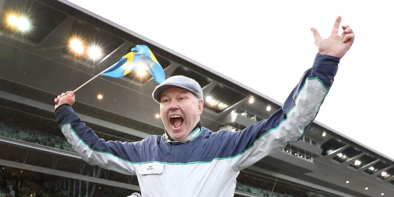 Timo Nurmos har fina chanser i Kalmar. Foto Mia Törnberg/Sulkysport
