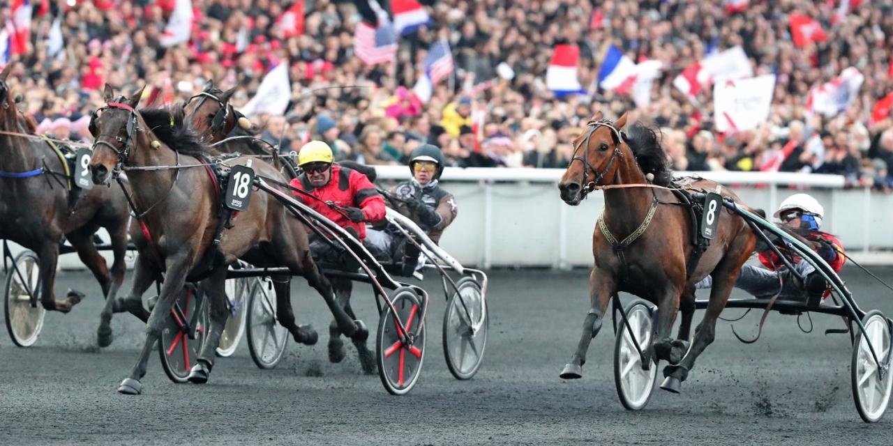 Readly Express vid fjolårets vinst i Prix d'Amérique. Foto Mia Törnberg/Sulkysport