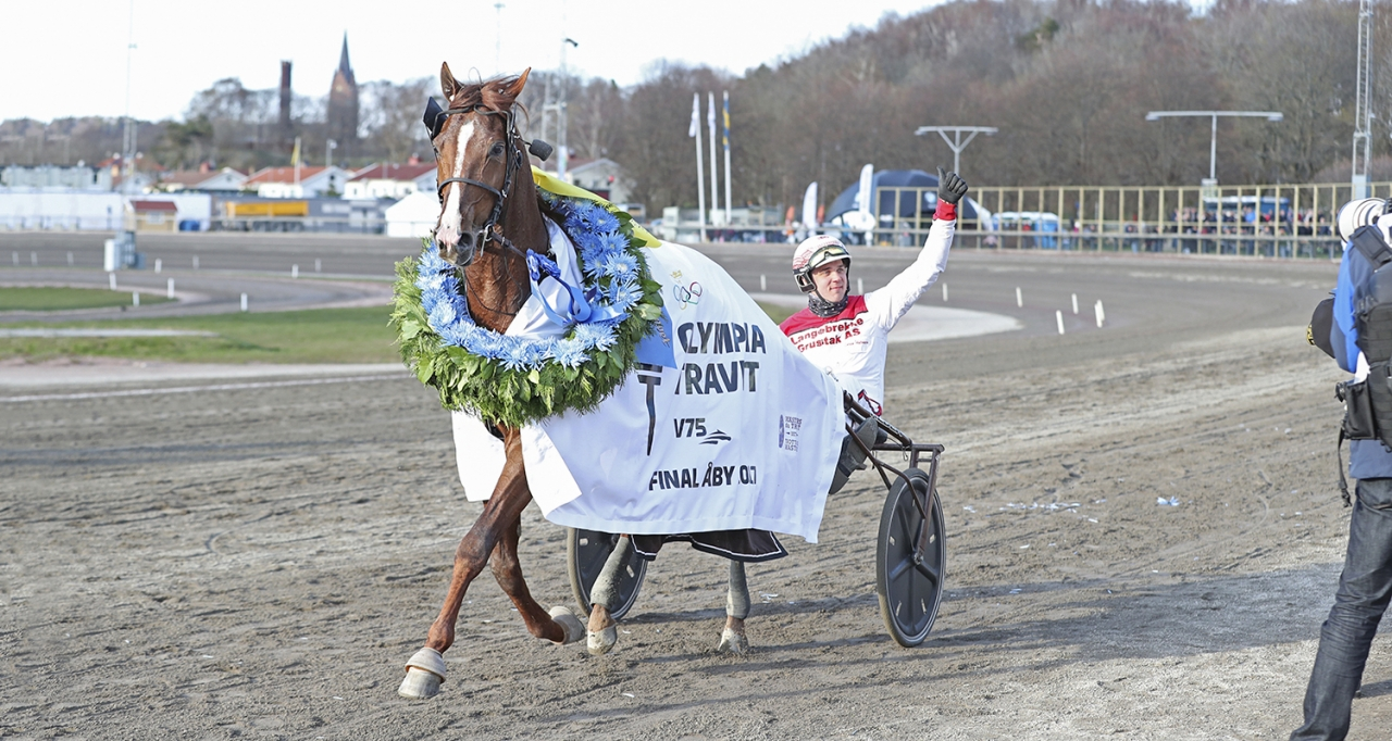 Lionel och Göran Antonsen vann Olympiatravet 2017. Foto Mia Törnberg/Sulkysport