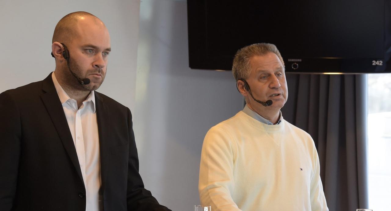Johan Lindberg och Ulf Hörnberg. Foto Leif Norberg/ALN