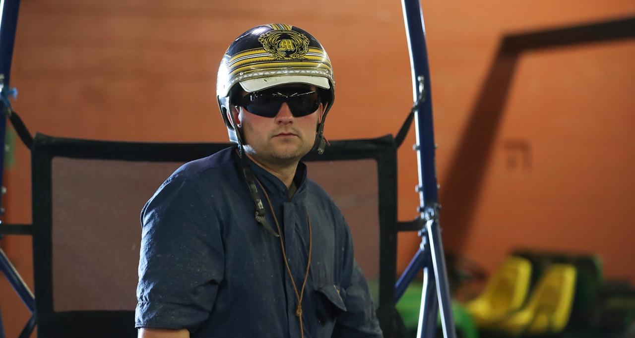 Marcus Melander räknade in en dubbel igår på Pocono Downs. Foto Jeannie Karlsson/Sulkysport