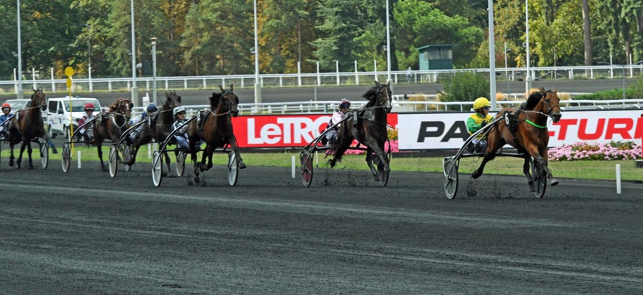 Björn Goop och Face Time Bourbon vid en tidigare seger på Vincennes. Foto: Gerard Forni