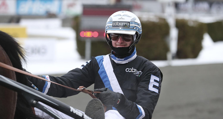 Rikard N Skoglund sulky. Foto Jeannie Karlsson/Sulkysport Solvalla 20180211, Travkusk, Travtränare, Sulkysport, Travsport