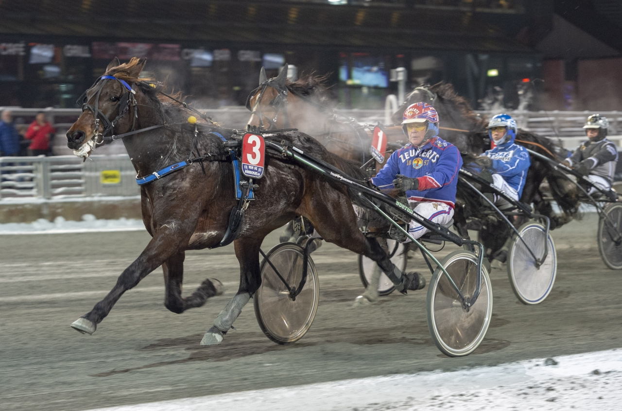 Belker vann Vinterfavoriten på svenska rekordet 1.14,6a/2.140. Foto: Tommy Andersson/ALN