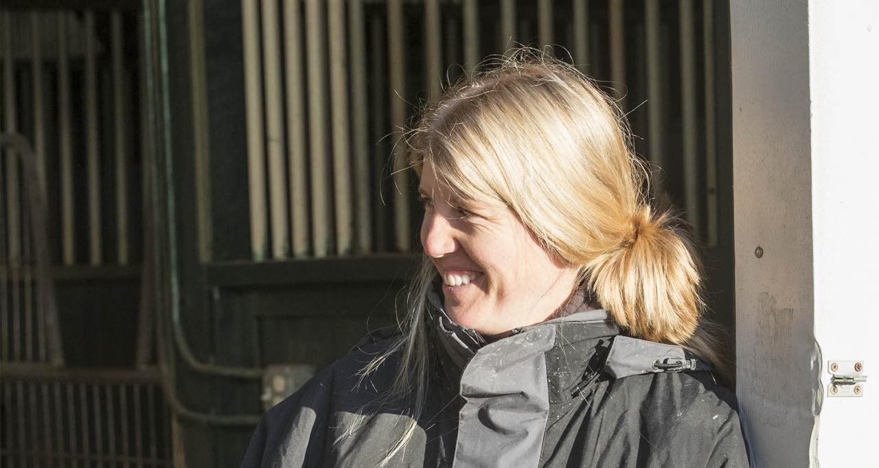 Anna Lorentzon äger Vatanna. Foto Jeannie Karlsson/Sulkysport
