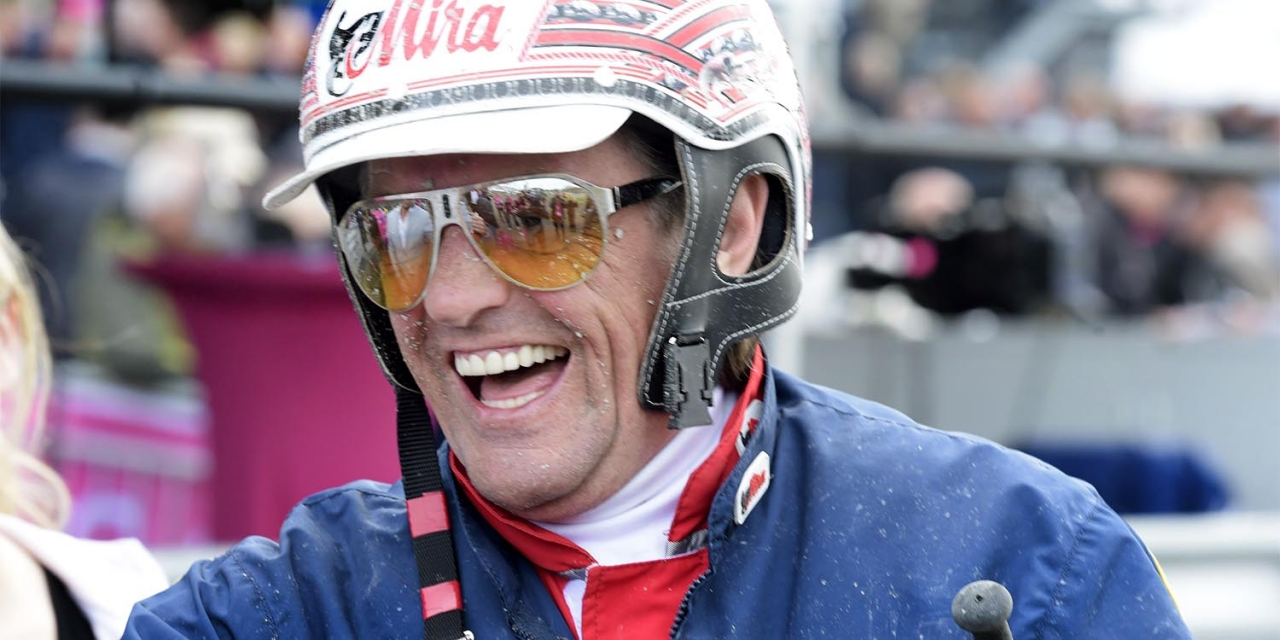 Kommer Jos Verbeeck med ett leende på söndag? Han är full av självförtroende inför styrningen med Aubrion du Gers i Elitloppet. Foto: Leif Norberg/ALN