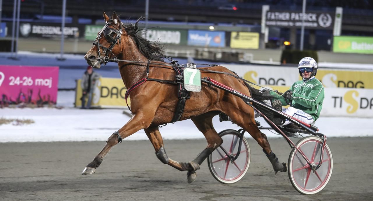 Ritchie Ås stannar på Solvalla, medan hästens tränare Erik Adielsson beger sig till Bergsåker när det körs V86 ikväll. Foto Mia Törnberg
