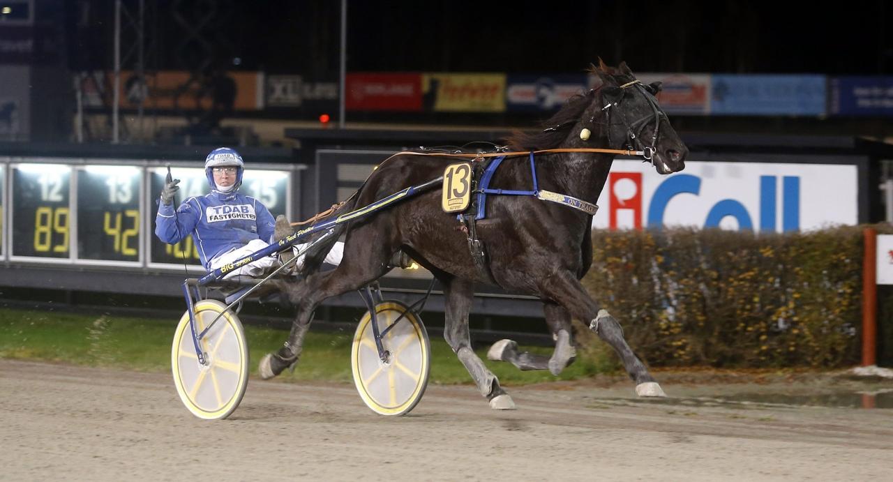 Rikard N Skoglund och On Track Piraten är obesegrade efter tre starter. Foto Hanold/ALN