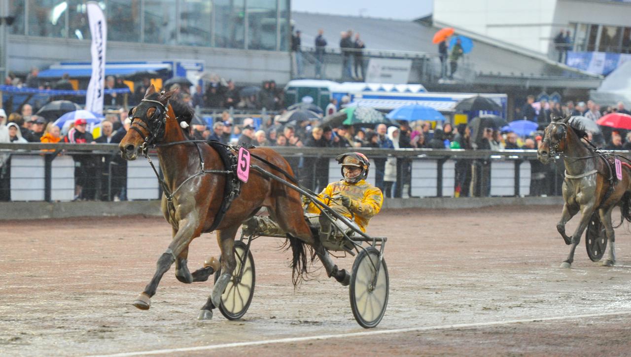 Vincero' Gar var förkrossande överlägsen vid aprilsegern på Åby. Vinner kvällens största V86-favorit även på Fornaboda? Foto: Simon Hagen