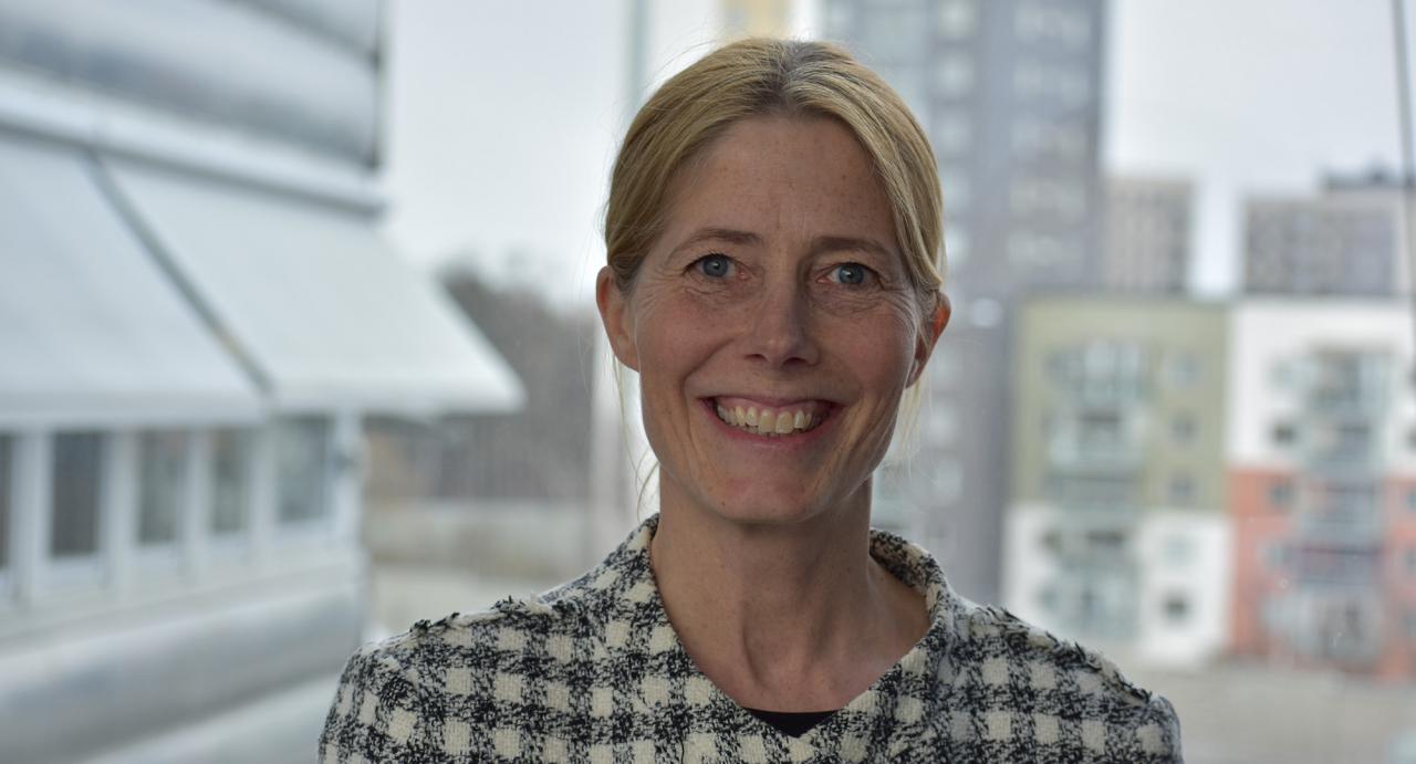 Så här ser Svensk Travsports nya vd ut, 50-åriga Maria Croon, som närmast kommer från vd-posten på Mitt i-tidningarna. Foto Svensk travsport
