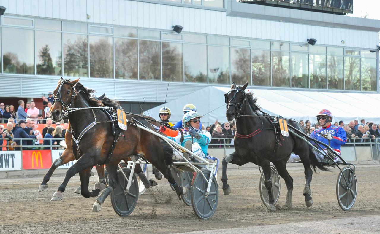 Perfect Spirit vann Hertigen av Värmland Prins Carl Philips Jubileumspokal på 1.10,1. Foto: Simon Hagen