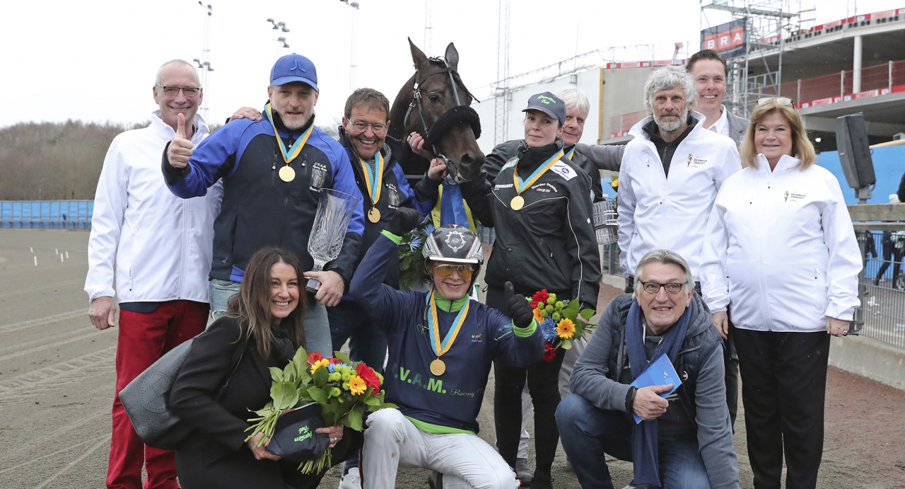 Ringostarr Treb vann Olympiatravet ifjol. I år heter den store favoriten Propulsion. Foto Mia Törnberg/Sulkysport