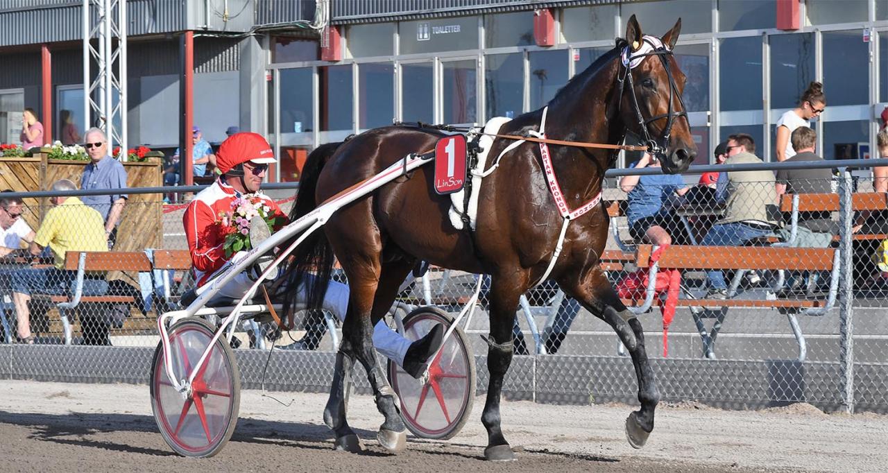 Spartan Kronos tillbaka i vinnarcirkeln. Foto Lars B Persson