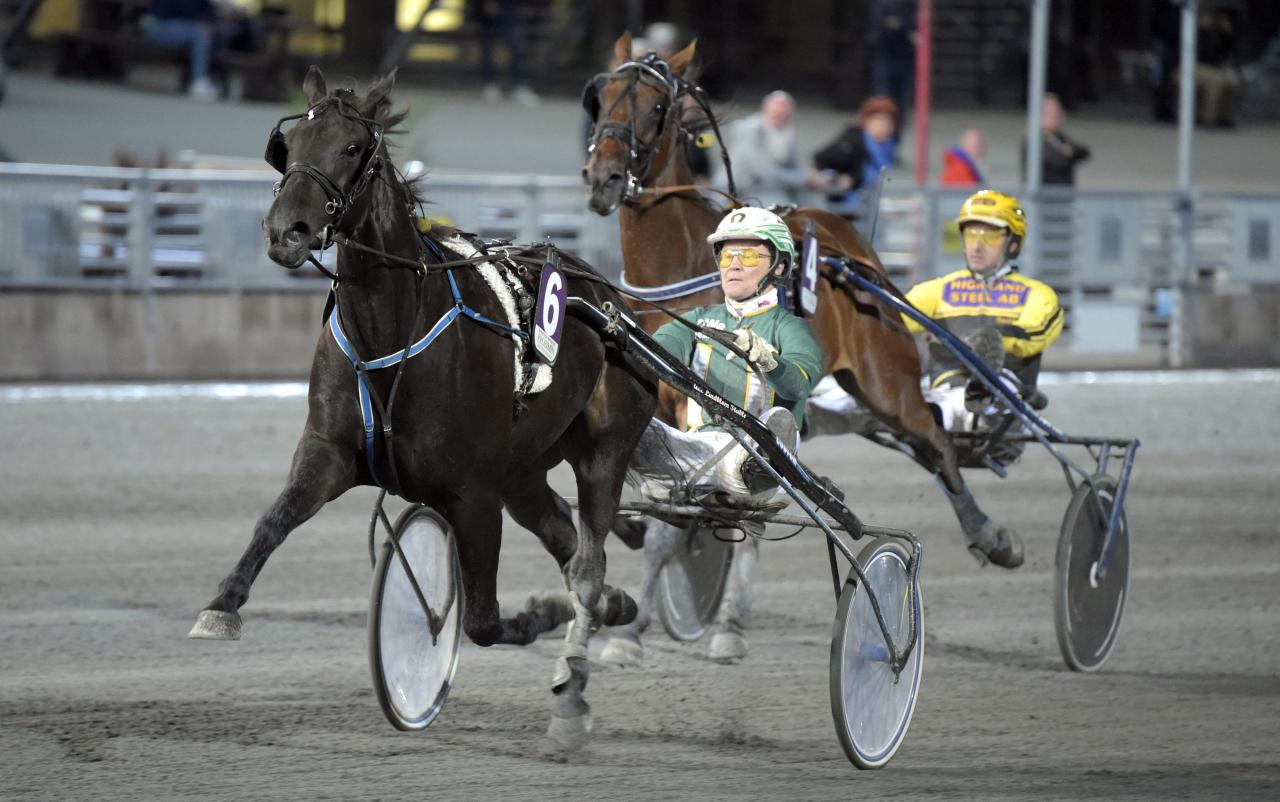 Mats Holmstedt och Åke Lindblom fortsätter skörda framgångar tillsammans. Under onsdagskvällen vann Chapuy. Foto: Martin Langels/ALN