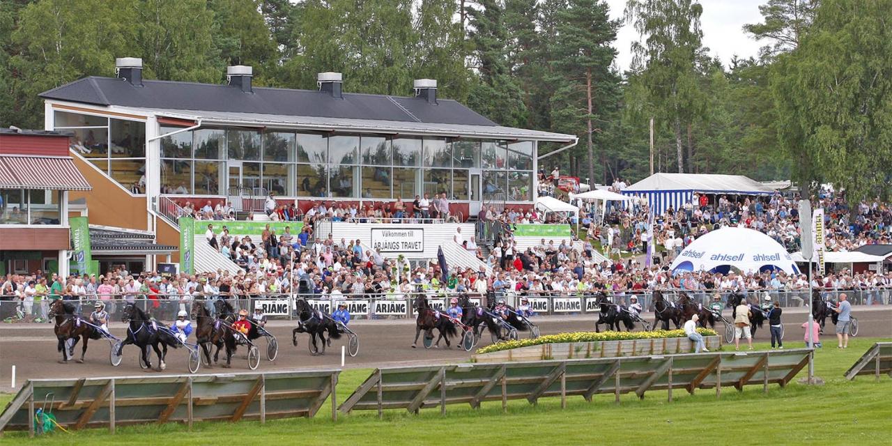 Årjängstravet är den svenska travbanan som ligger närmast den norska gränsen. Foto Hanold/ALN
