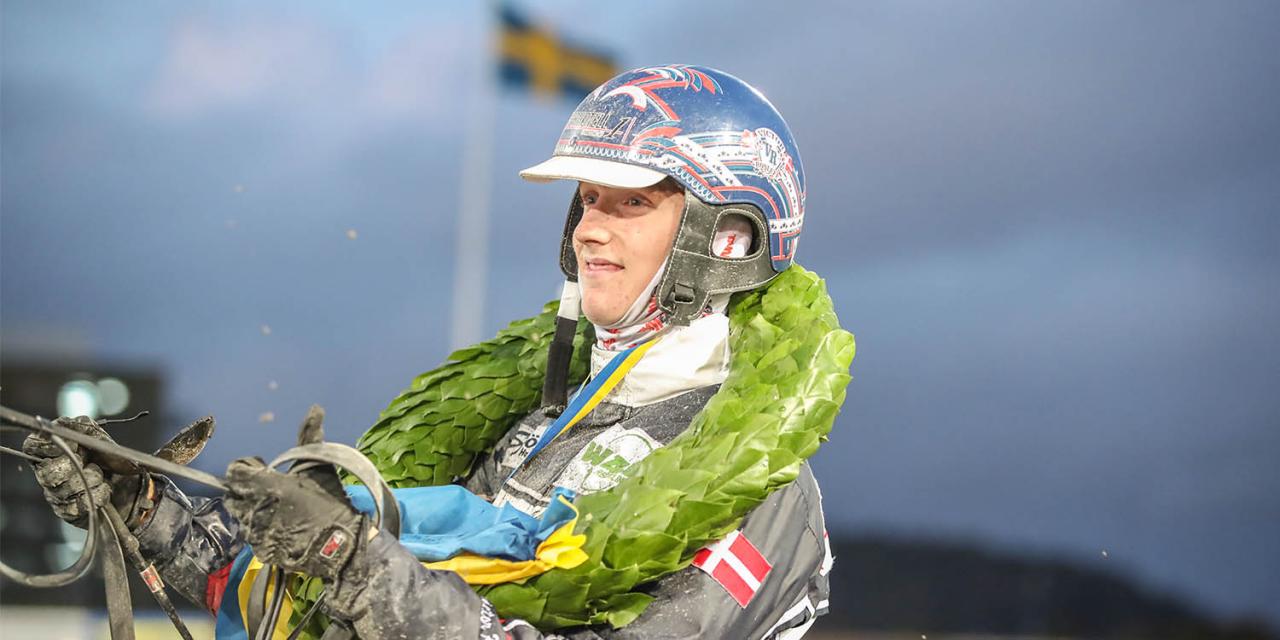 Victor Rosleff tog hem Lärlings-SM med Maggie Cash. Foto Mia Törnberg