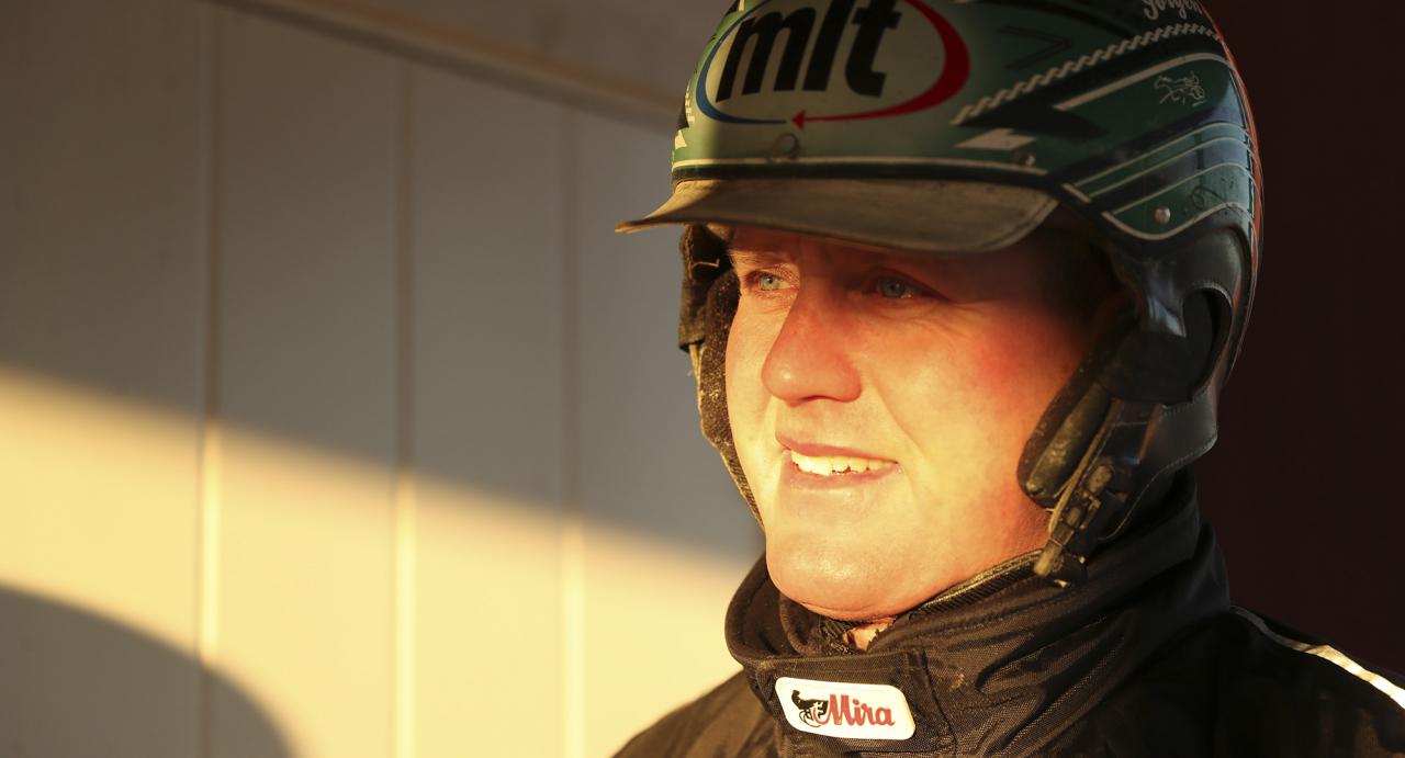 """Jörgen Westholm har stängt ner sin franska filial och i veckan startar flera av hans """"franska"""" hästar i Sverige. Foto Jeannie Karlsson/Sulkysport"""