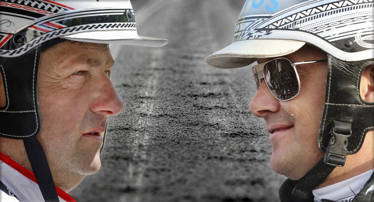 Svante Båth och Robert Bergh toppade treåringsligan förra året. Foto Mia Törnberg/Sulkysport