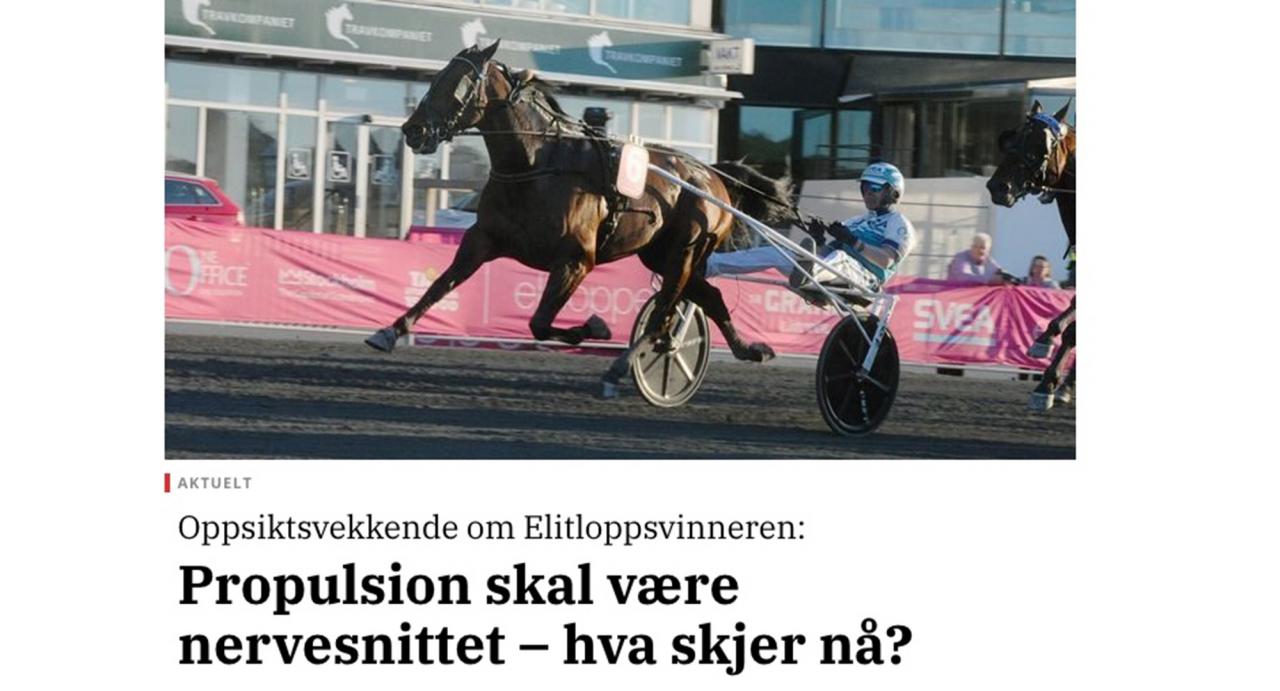 Norska Trav og Galopp-Nytts websida.