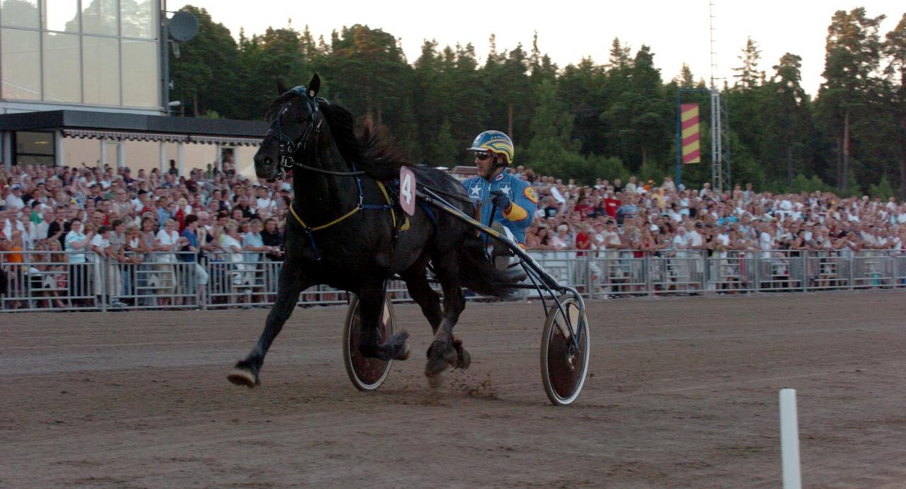 Järvsöfaks och Jan-Olov Persson stormar fram mot världsrekordet 1.17,9! Foto Stalltz.se