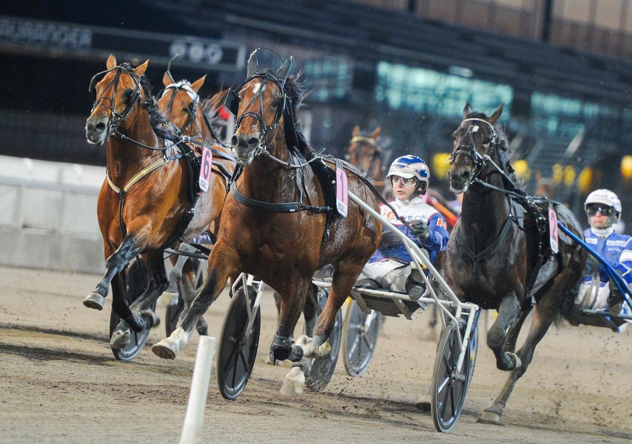 Heavy Sound och Kenneth Haugstad vinner från spets. Foto: Adam Ström/stalltz.se